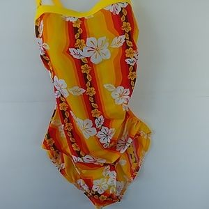 Other - Yellow and brown floral tankini top